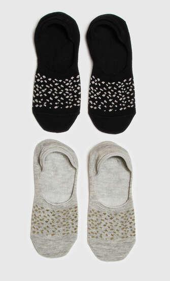 2 Paar Socken, Schwarz