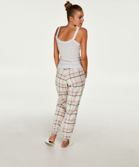 Pantalon de pyjama Check, Rose
