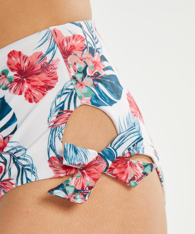 Rio Bikini-Slip Vintage mit hoher Passform, Weiß, main