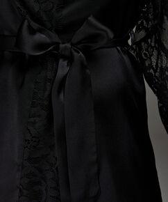 Kimono Seide, Schwarz