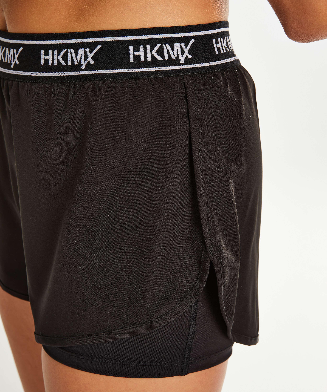 Short de sport HKMX, Noir, main