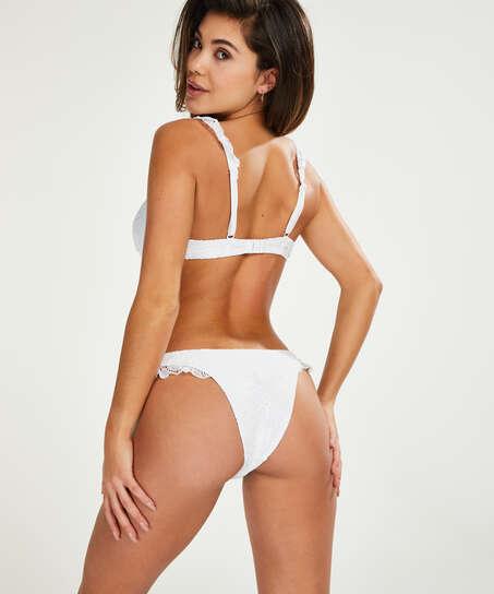 Vorgeformtes Bügel-Bikini-Oberteil Etta Crochet, Weiß