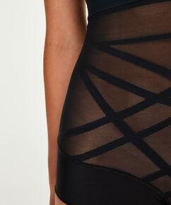 Culotte taille haute raffermissant - Level 2, Noir