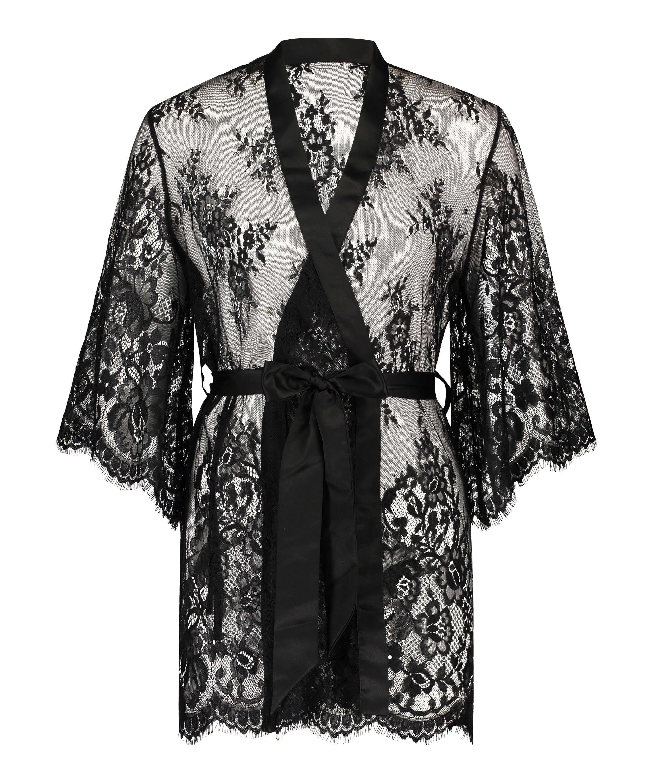 Kimono Lace Isabelle, Noir, main