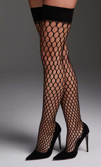 Stay-up Fishnet Private Big Sexy, Schwarz