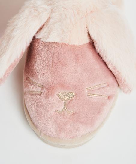 Pantoffeln Cute Bunny, Rose
