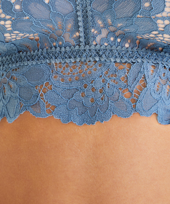 Soutien-gorge préformé sans armatures longline Shiloh, Bleu, main