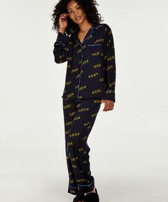 Pyjama long DKNY, Bleu