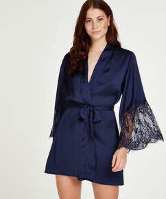 Kimono Satin, Bleu