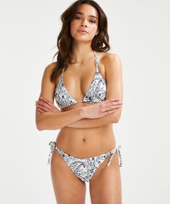 Triangel-Bikini-Oberteil Paisley, Weiß