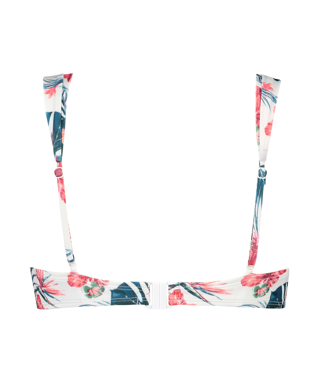 Vorgeformtes Bügel-Bikini-Oberteil Vintage, Weiß, main