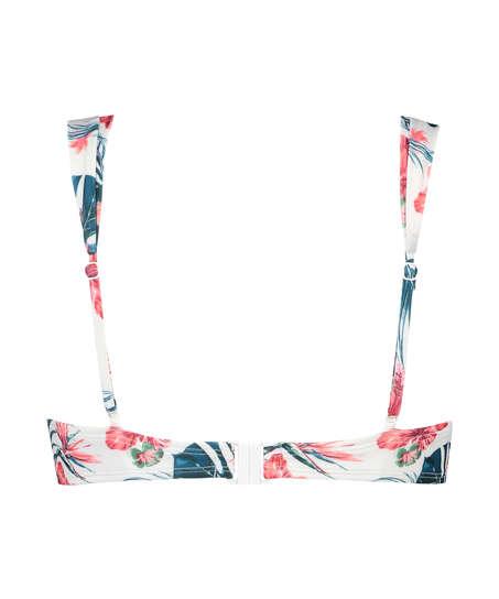 Vorgeformtes Bügel-Bikini-Oberteil Vintage, Weiß