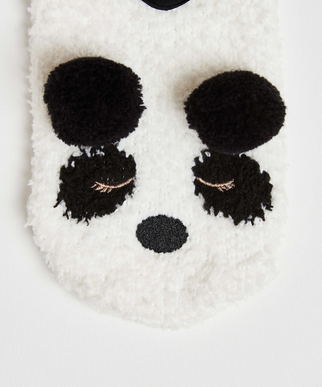 Hausschuhe Panda, Gelb, main