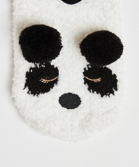 Hausschuhe Panda, Gelb
