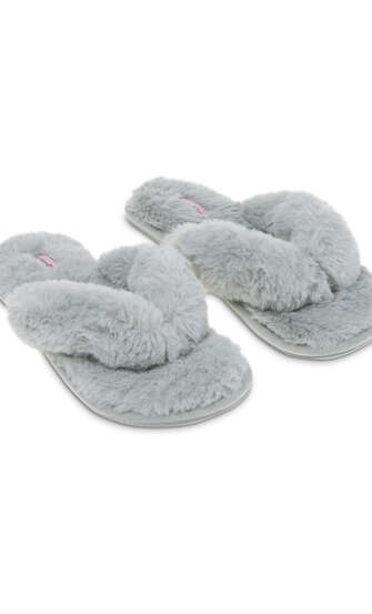 Tongs Fake Fur, Gris