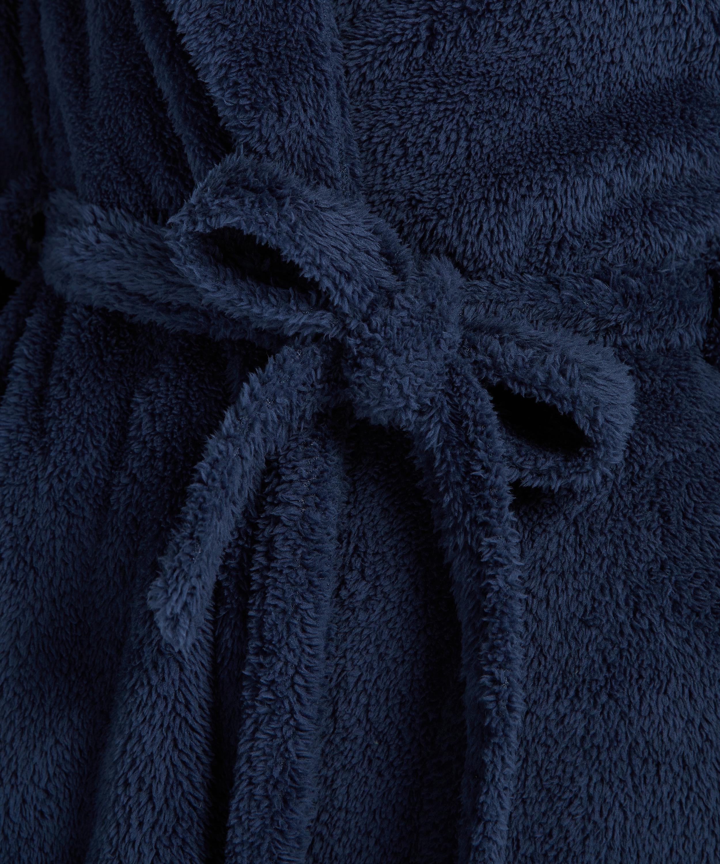 Long peignoir Polaire, Bleu, main