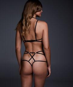String taille haute Maud, Noir