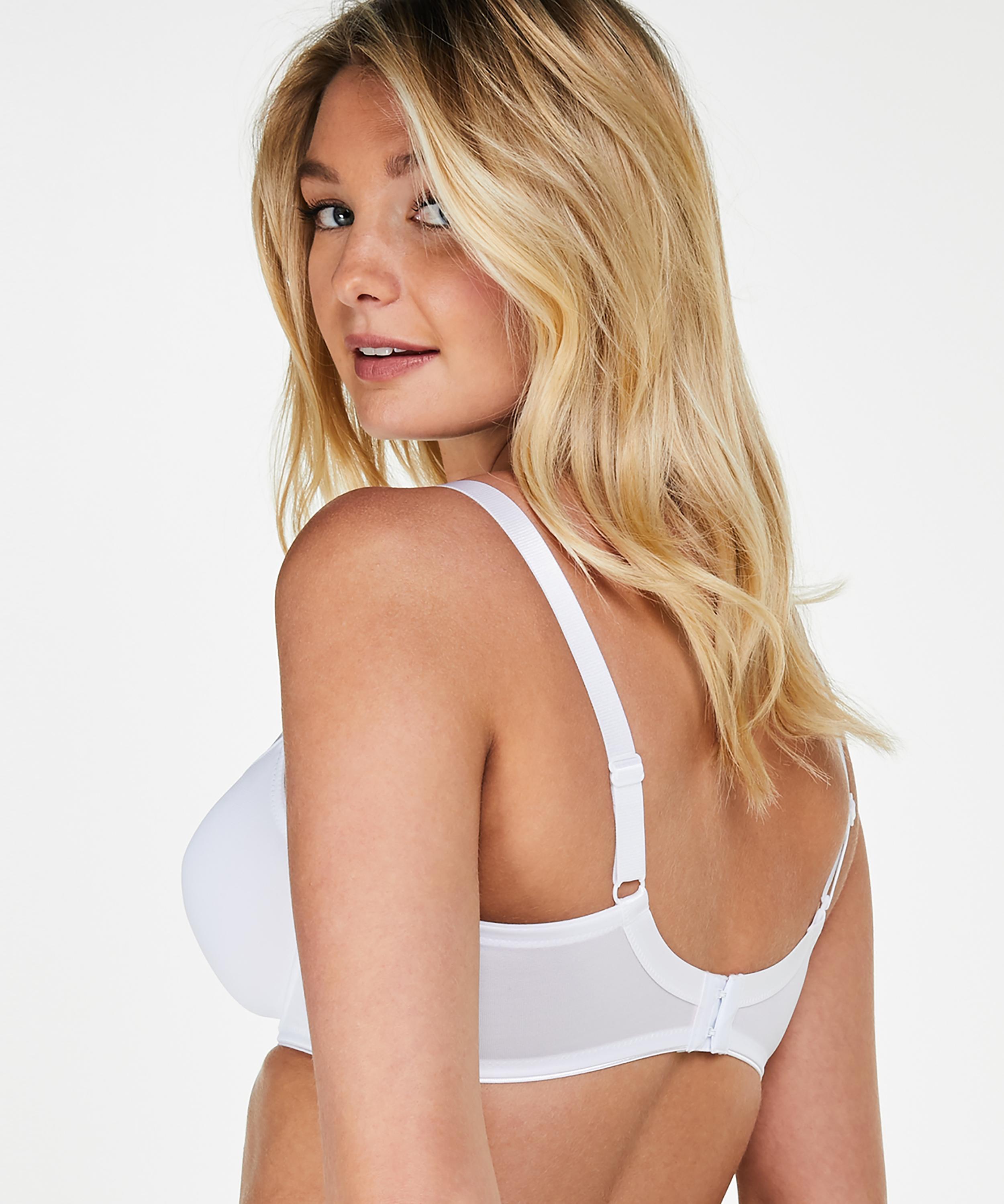 Soutien-gorge à armatures non-préformé minimiseur Nina, Blanc, main