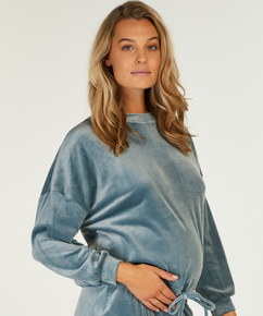 Schwangerschafts-Top Samt , Blau