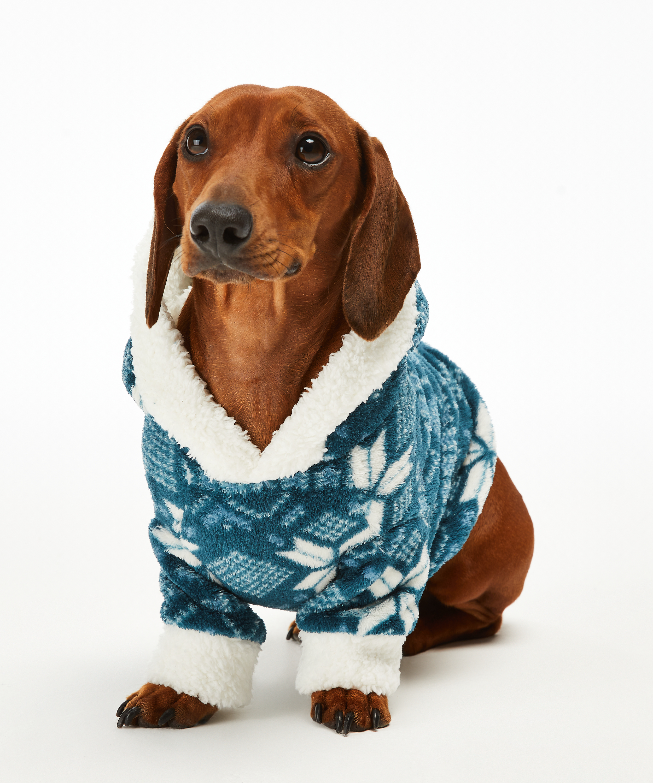 Onesie chiens en polaire, Bleu, main