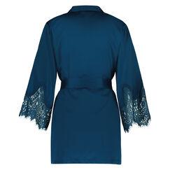Kimono Lace Satin Indra Petite, Blau