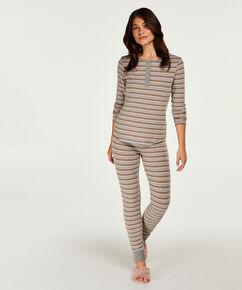 Geschenkset Langes Pyjamaset, Grau