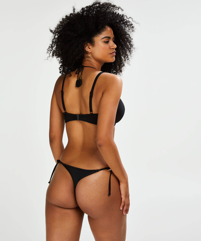 String Bikini-Slip Sunset Dream, Schwarz, main