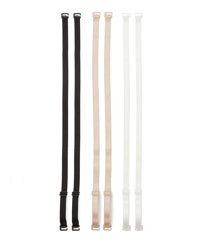 3 bretelles de soutien-gorge basiques, Noir, main
