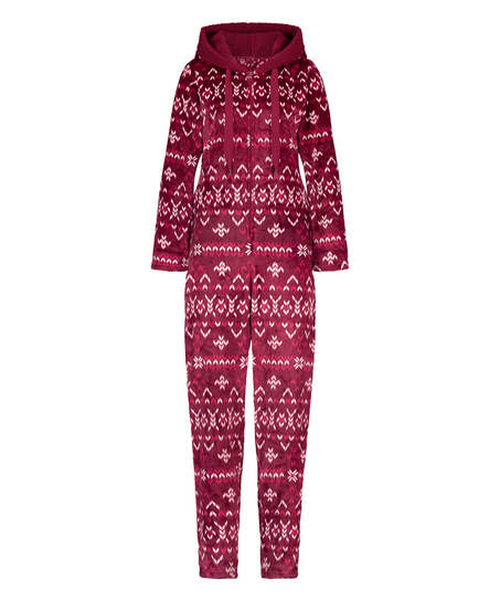 Onesie Flanelle Polaire, Rouge
