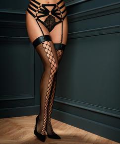 Stockings Private, Netzstoff, Schwarz