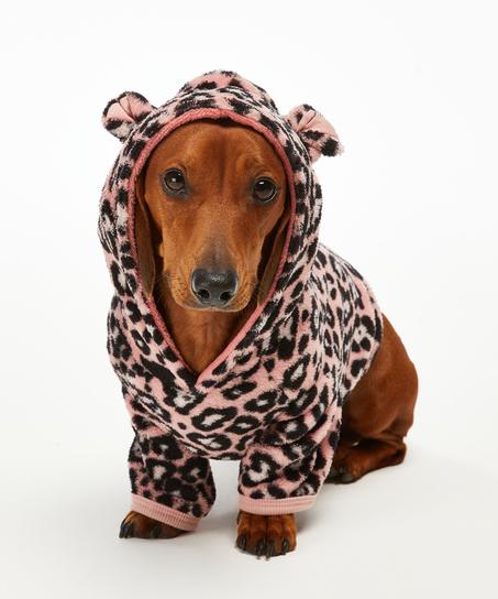 Onesie chiens en polaire, Rose