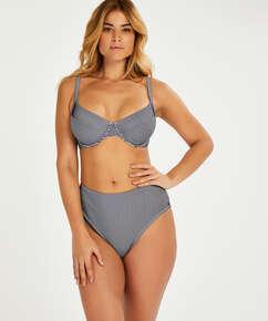Haut de bikini à armatures non-préformé Ruffle, Bleu