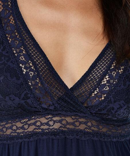 Graphic Lace slipdress, Blau