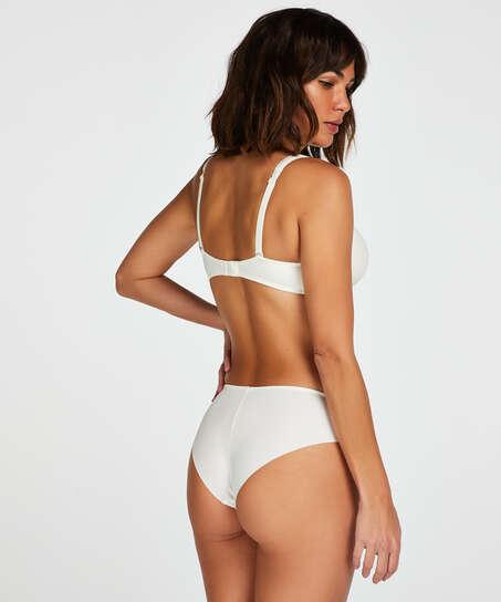 Slip Satin Fleece, Blanc