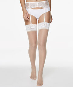 Lot de 2 Collants 15 Denier Lace, Bronzage