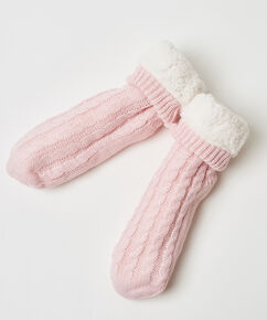 Haussocken Knit, Rose