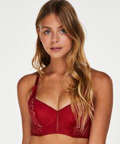 Soutien-gorge à bretelles préformé longline Nofee, Rouge