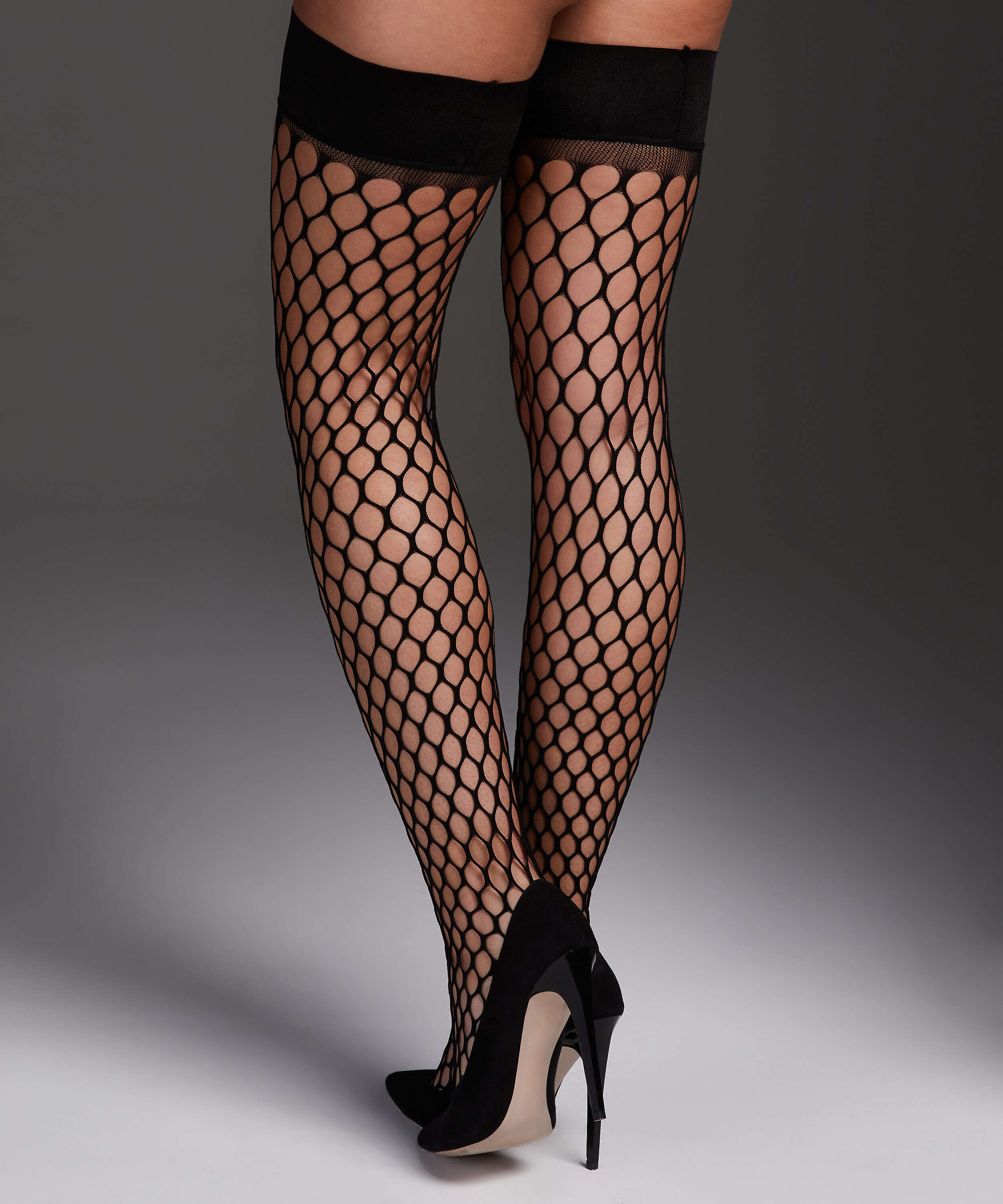 Stay-up Fishnet Private Big Sexy, Schwarz, main