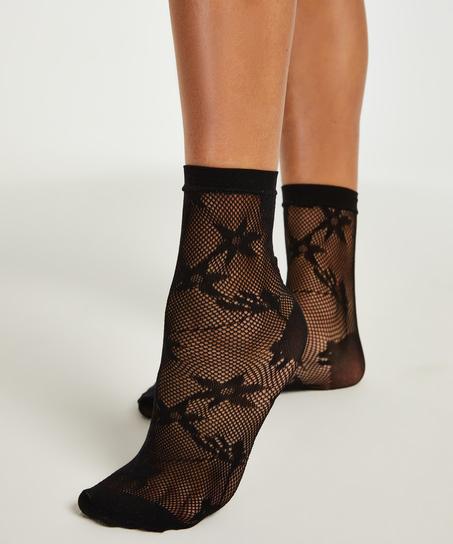 1 Paar Fashion-Socken, Schwarz