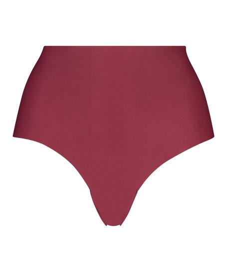 Slip brésilien taille haute Invisible, Rouge