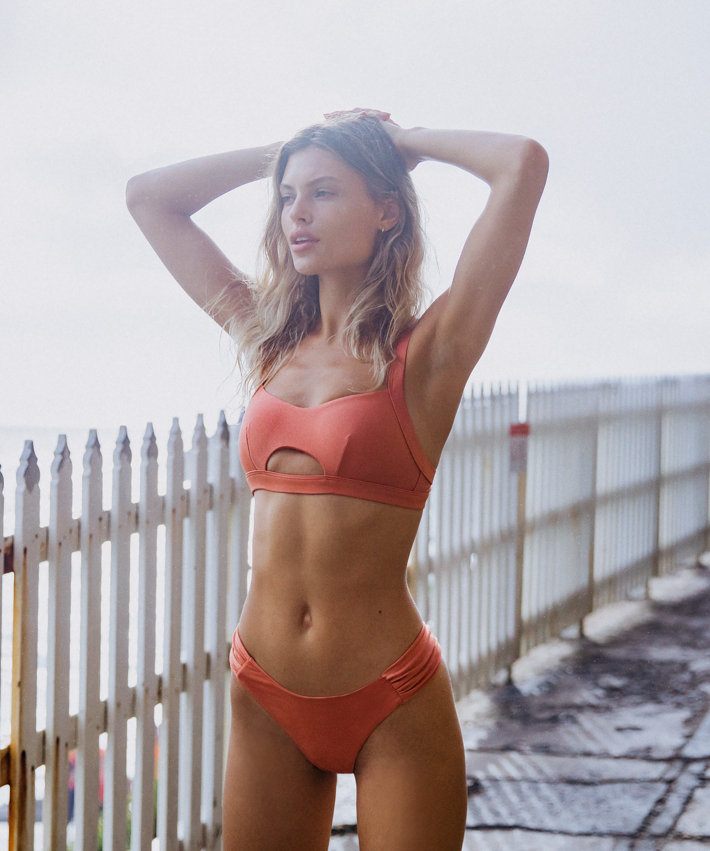 Bas de bikini échancré Bonita, Orange, main