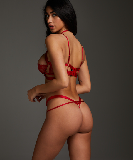 Unwattierter Bügel-BH Jacky, Rot