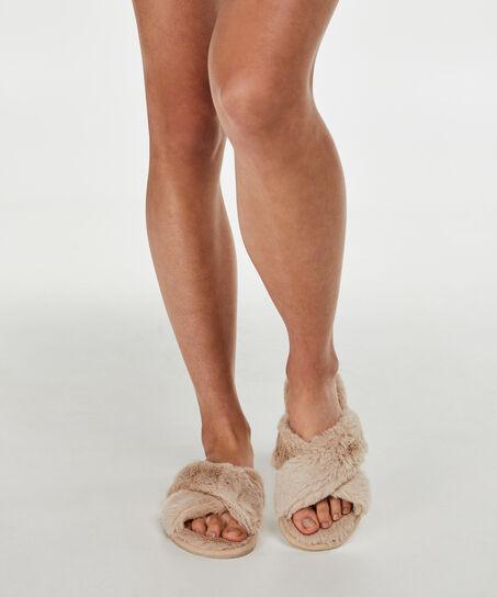 Cross Straps Indoor Sandal, Weiß