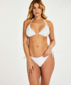 Haut de bikini triangle Remi Stitch, Blanc