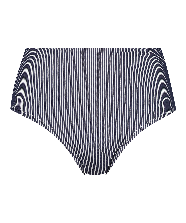 Bas de bikini taille haute Ruffle, Bleu, main