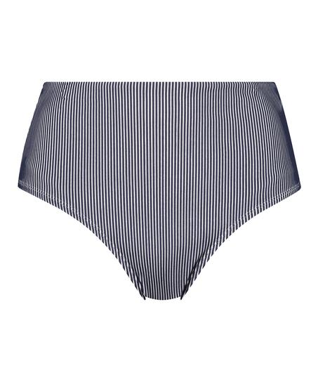 Bas de bikini taille haute Ruffle, Bleu