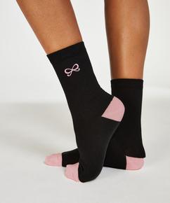 2 paires de chaussettes Bow, Noir