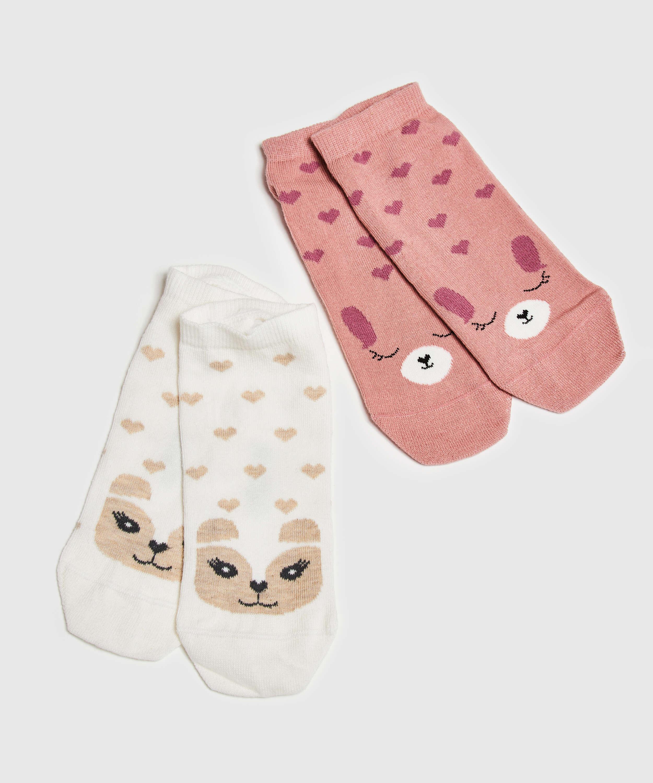 2 Paar Socken, Rose, main