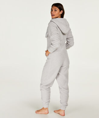 Onesie Cloud aus Fleece, Grau