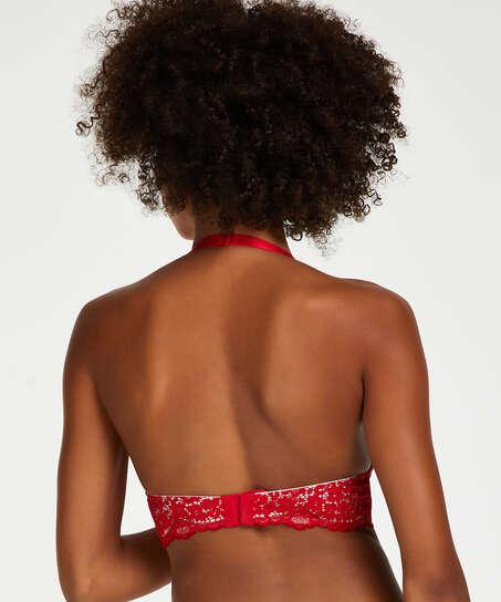 Träger-Bralette Rose, Rot